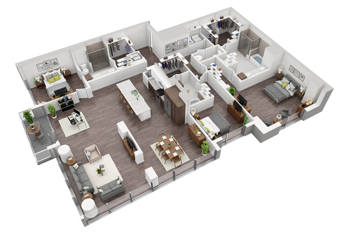 Plan C1 - 3 Bedroom, 3.5 Bath