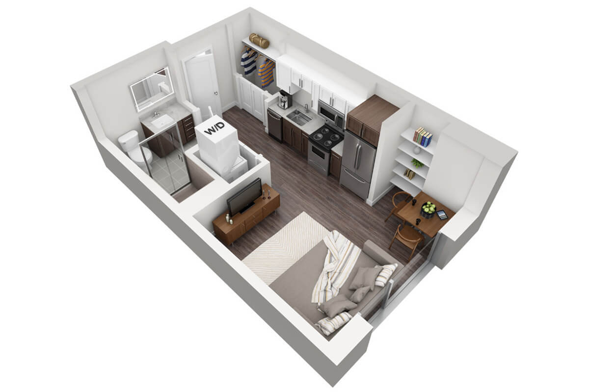 Plan M1 - Micro Unit, 1 Bath