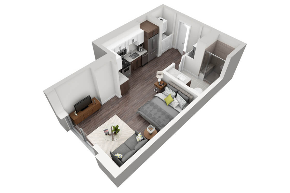 Plan M2 - Micro Unit, 1 Bath