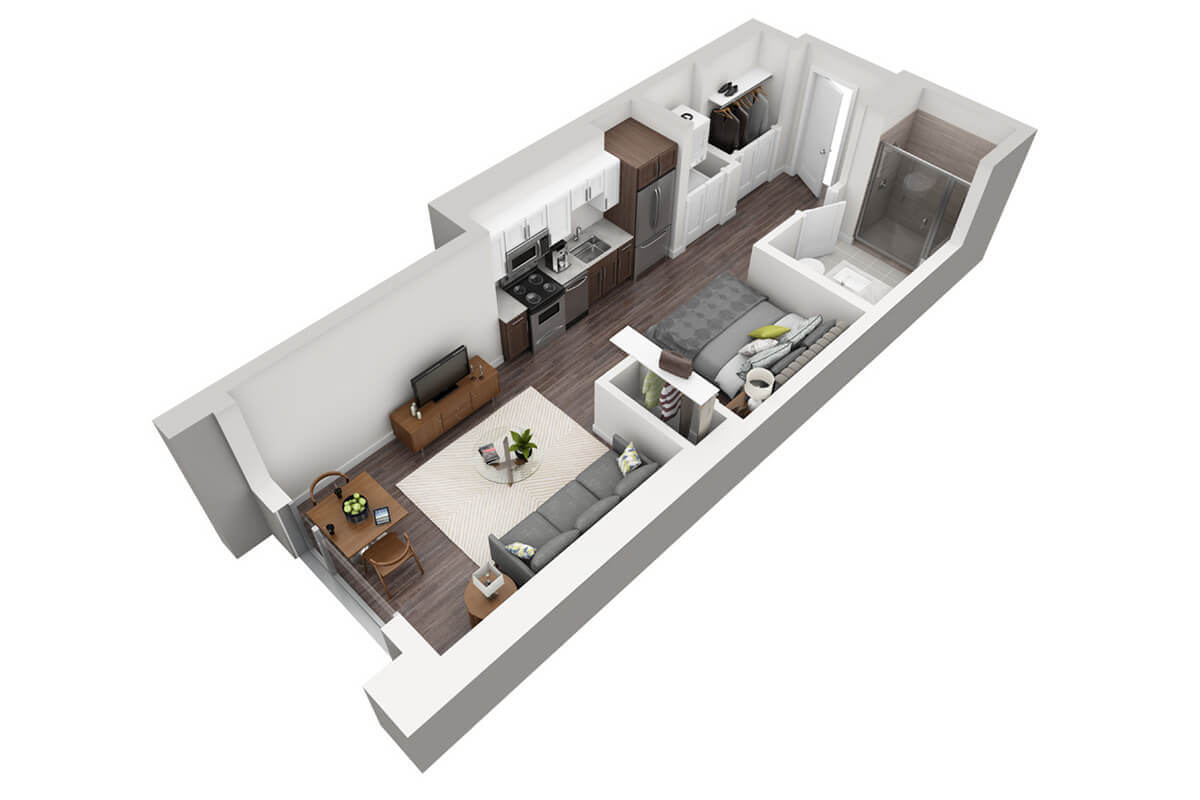 Plan M3 - Micro Unit, 1 Bath