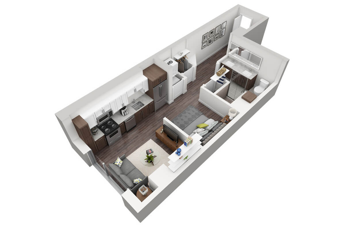Plan M4 - Micro Unit, 1 Bath