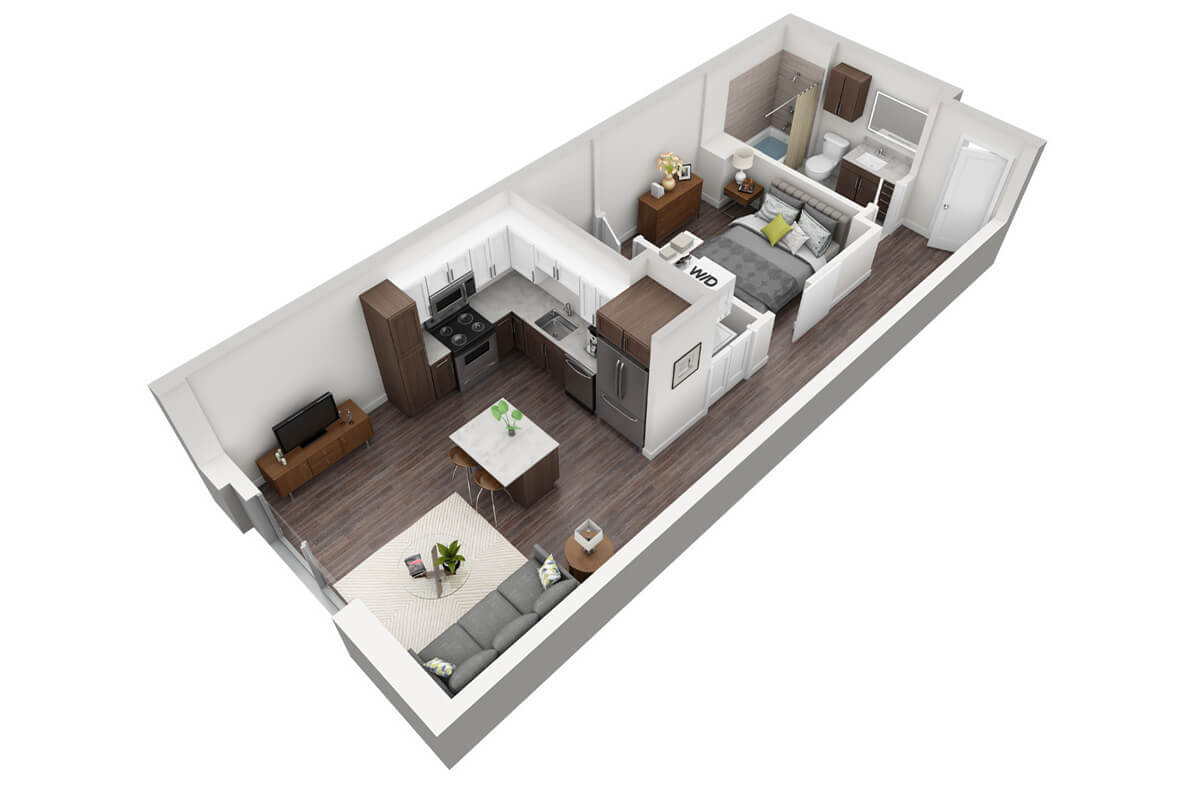Plan S2 - Studio, 1 Bath