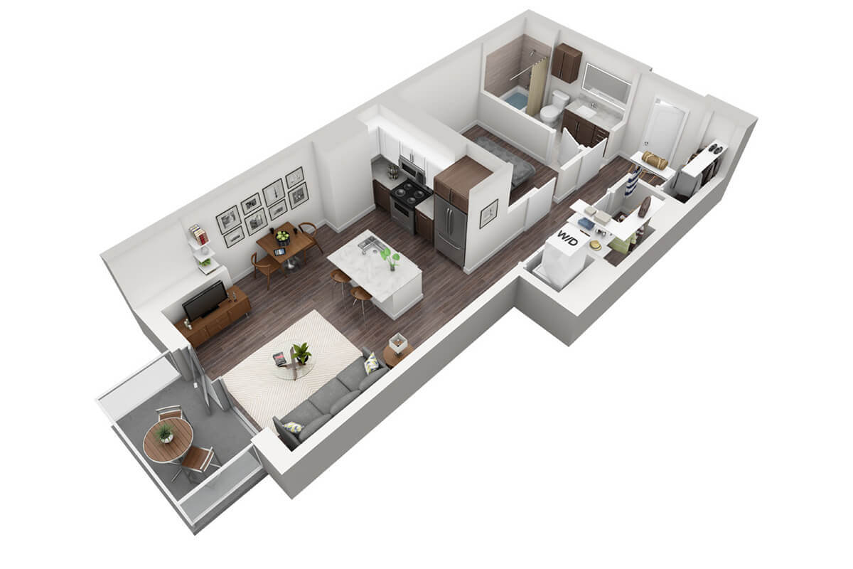 Plan S3 - Studio, 1 Bath