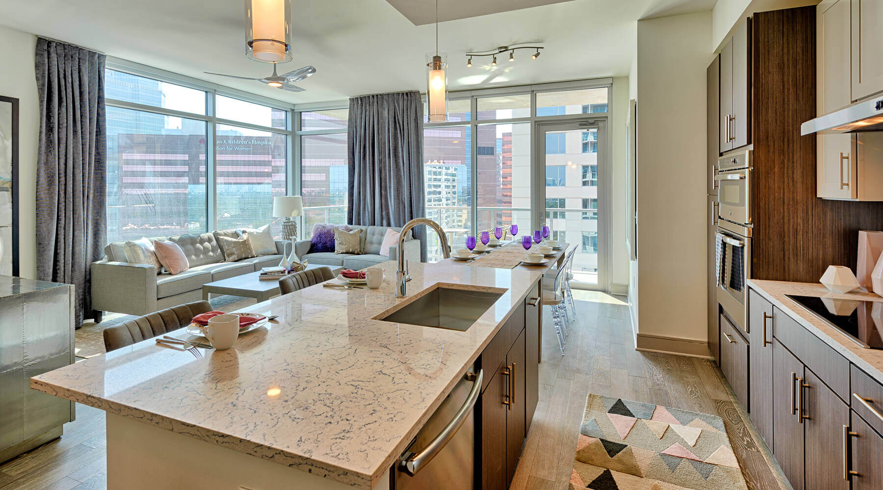 Latitude Med Center Houston Apartment Tower Kitchen
