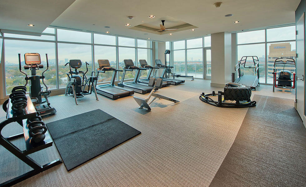 Cardio Machines In Our Houston Apartment's Wellness Destination